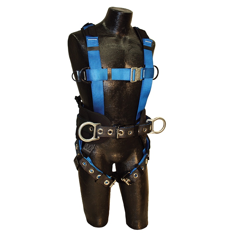 Ironman Lite Harness, Sewn-In Belt & D-Ring Extender, Back/Side D-Rings, Std Size